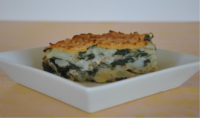 Cheesy Potato Frittata with Spinach & Dancing With Negative Energy