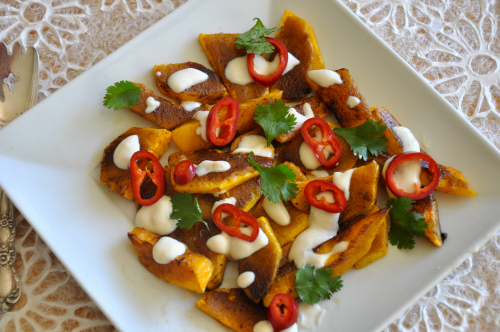 Roasted Butternut Squash with Sweet Spices & Chiles