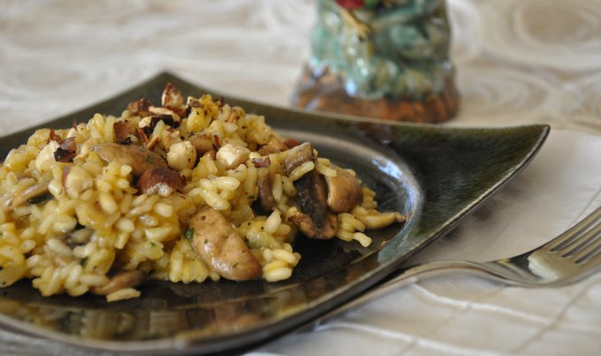 Vegan Mushroom Risotto & Dear President Obama – You Can Save The Planet By Not Eating Meat