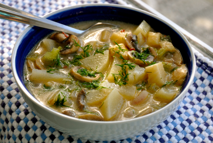 Vegan Boston Clam Chowder