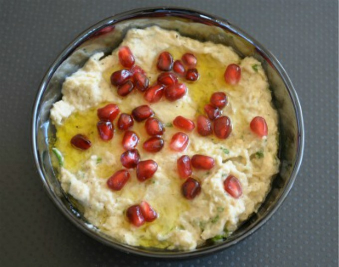 Roasted Eggplant Dip with Pomegranate and Tahini