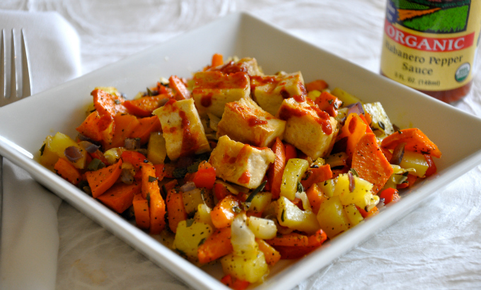 vegan roasted winter vegetable hash with grilled tofu — Ordinary ...