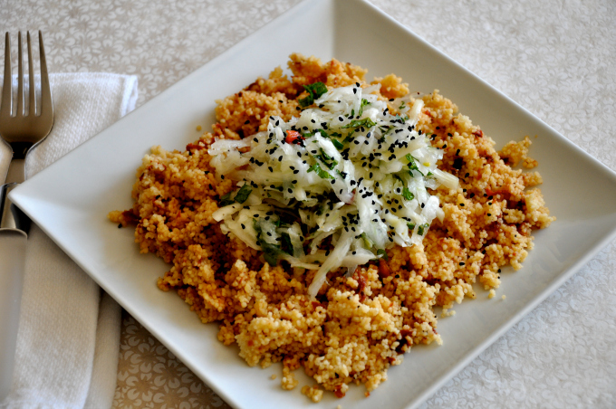 Sundried Tomato Couscous with Fennel Salad