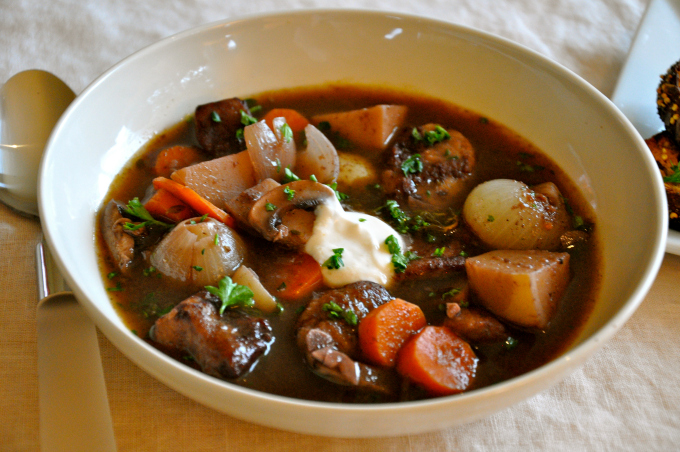 Beef Stew With Red Wine And Horseradish-Chive Cream Recipes ...