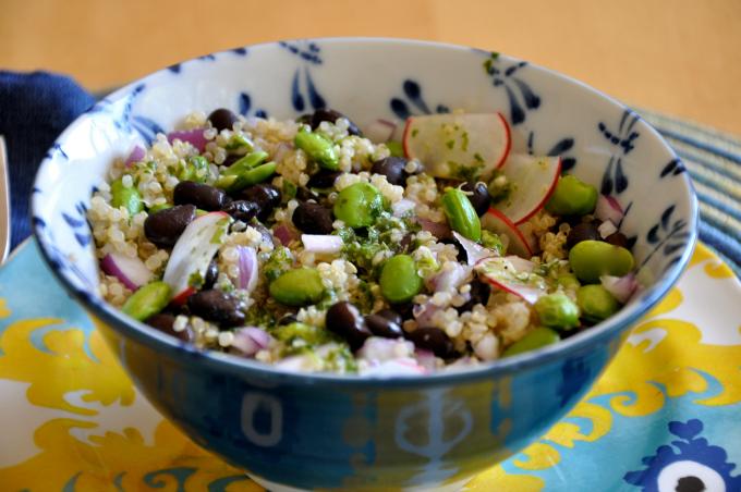 Edamame & Black Bean Quinoa Salad