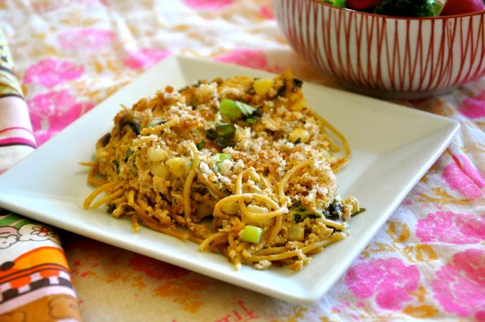 Pasta Frittata with Corn & Mushrooms & Serendipity