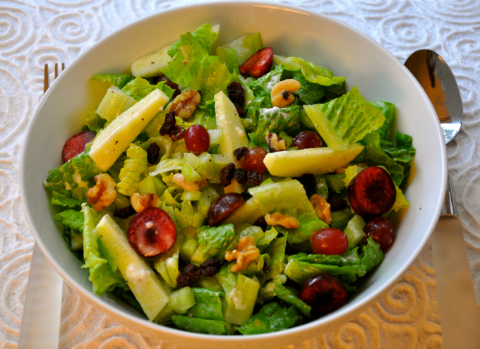 Crisp and Tart Vegan Waldorf Salad