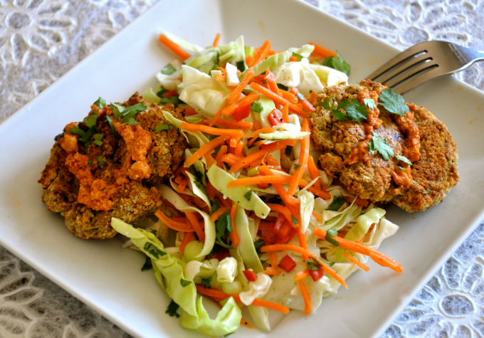 Unhealthy Oils & Oil Free Coleslaw & Chickpea Cakes