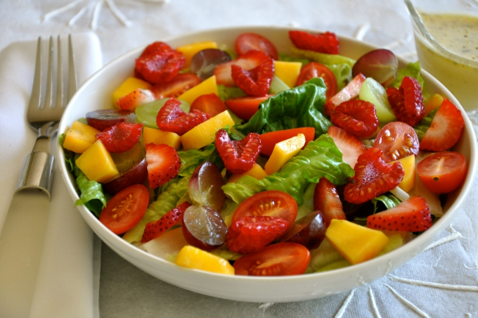 Summer Salad with Citrus Oil-Free Vinaigrette