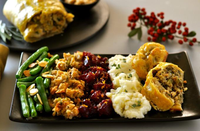 Vegan Roast Wellington with Lentils, Mushrooms & Chestnuts