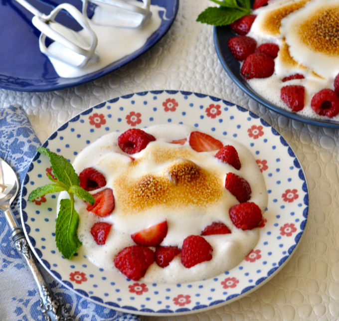 Vegan Meringue with Summertime Berries