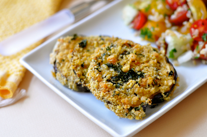 Need more plant-based crunch in your life? Try these baked breaded eggplant slices. (#vegan) ordinaryvegan.net
