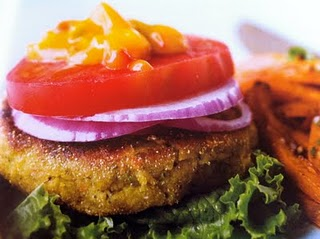 Veggie Burgers With a Spicy Mango Ketchup