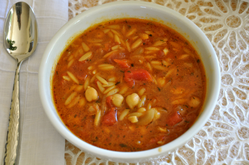 How Much Is An Oil Change >> Garbanzo Bean Soup with Tomatoes and Pasta