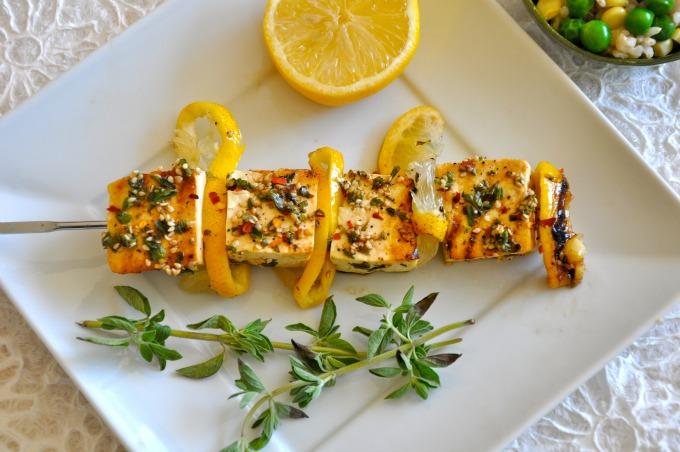 Grilled Tofu Kebabs & Seeds of Life