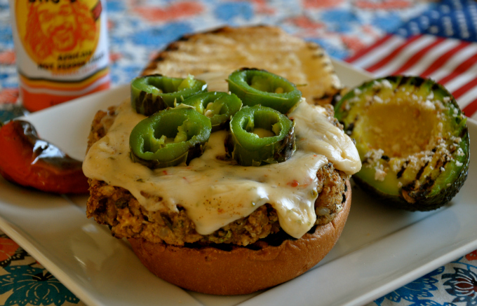 """Some Like It Hot"" No Beef Jalapeño Burger"