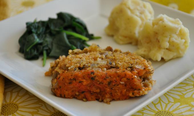 quinoa lentil loaf