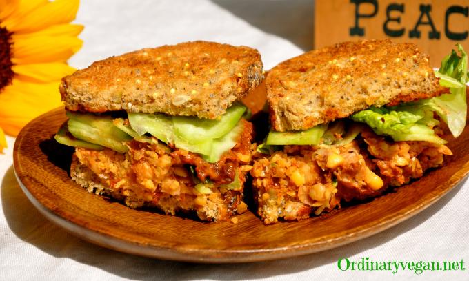 Vegan Sandwich – Sun-Dried Tomato & Chickpea Sandwich