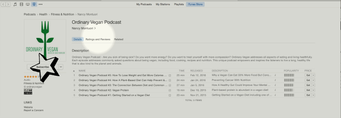 Don't miss any of Ordinary Vegan's podcasts on iTunes or at ordinaryvegan.net (#vegan)