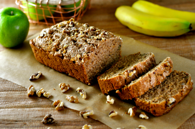 Cinnamon Bread with Apples & Walnuts