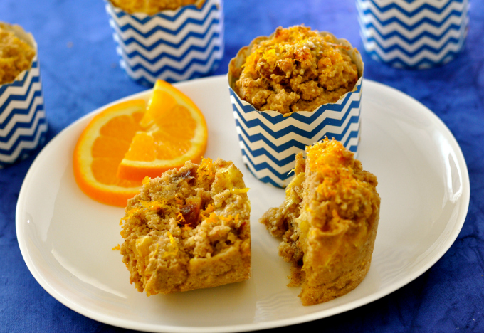 Healthy Breakfast Muffin with Quinoa, Dates & Oranges